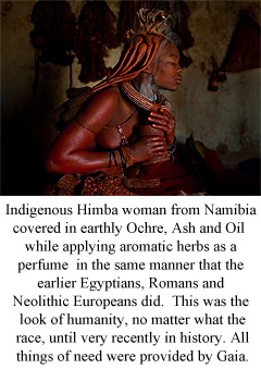 Indigenous Himba woman in Ochre.