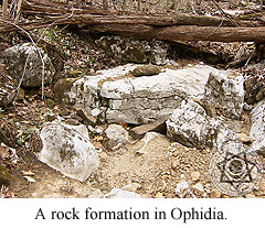 A rock formation in Ophidia.