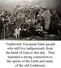 Traditional Sami people